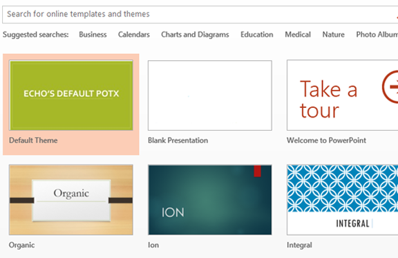 How to set a default template in powerpoint 2013 echosvoice 4 toneelgroepblik Image collections