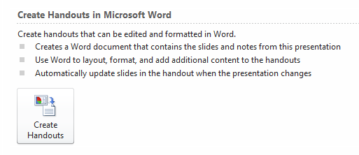 4 best practices for powerpoint handouts with send to word, Powerpoint templates